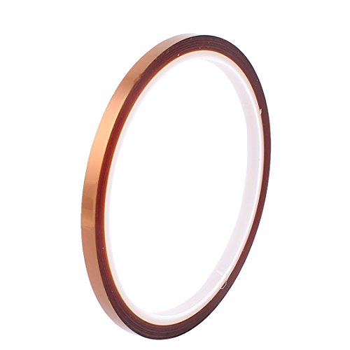 Uxcell a16061600ux0174 Kapton Tape High Temperature Heat Resistant Polyimide, 0.5 cm Width, 30 m Long