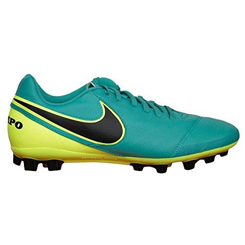 Nike Tiempo Genio II Leather AG-R Botas de fútbol, Hombre 307 CLEAR JADE/BLACK-VOLT