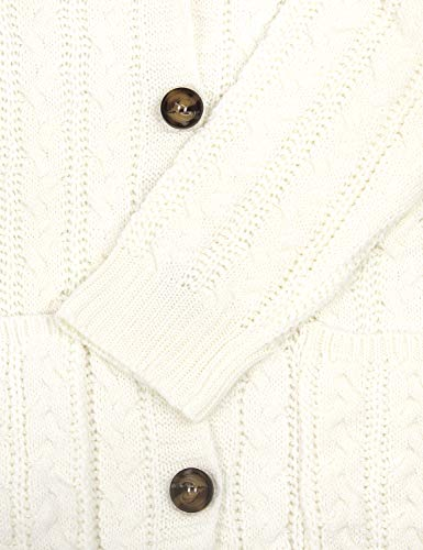 BMJL Femme Ouver boutonné Gilets Manches Longues Cardigan Les Poches Veste Long Tricoté Pull Manteau