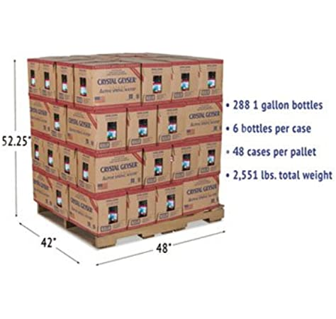 Alpine Spring Water 1 Gal Bottle 6 Case 48 Cases Pallet Amazon Com Grocery Gourmet Food