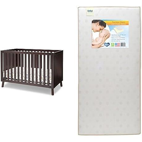 Delta Children Manhattan 3 In 1 Crib Dark Chocolate With Twinkle Stars Crib Toddler Mattress