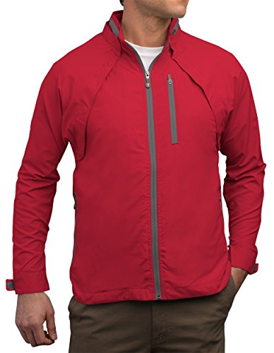 SCOTTeVEST Tropiformer Jacket - 22 Pockets – Convertible, Travel Clothing RED L by SCOTTeVEST