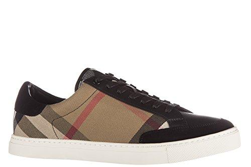 Burberry chaussures baskets sneakers homme en cuir reynold noir