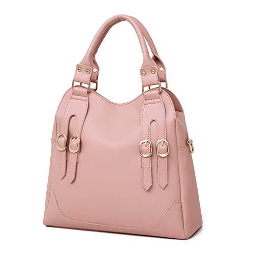 Bags Shoulder Black Composite Totes Leather cm W33H31D13 Handbag 3 Pink B4qfxvCnqw