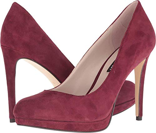 (Nine West Womens Quabree Leather Closed Toe Classic Pumps, Wine Suede, Size 7.5)