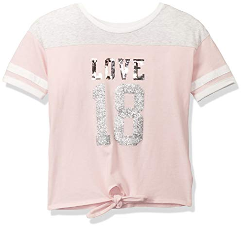 The Children's Place Girls' Big Novelty Graphic T-Shirt, Pink Tinge XL (14) Childrens Place Girls Glitter
