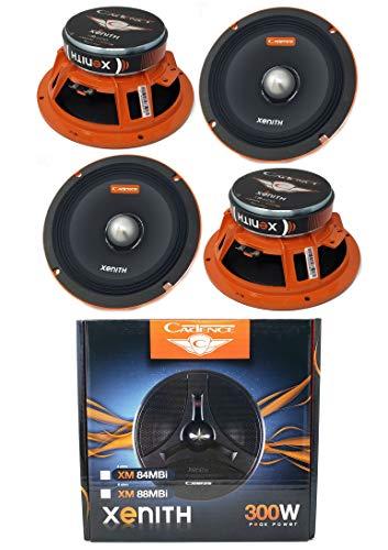 (4X 8 1200W Mid Range Loud Speakers Bullet 8 ohm car Audio Cadence XM88MBi )