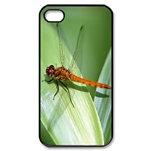 Iphone 4,4S Dragonfly Phone Back Case Personalized Art Print Design Hard Shell Protection LK030817