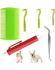 6 Pcs Dog Tick Remover, Tick Hook Flea and Tick Remover Tool Tick Twister Tick Remover Set Tick Picker Flea Lice Comb Tick Tweezer Tick Removal Pen for Pets Cats Horses Humans