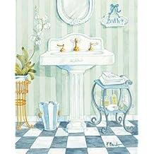 Pedestal Sink - Fine Art Print on Fine Art Paper - PRINT ONLY -NO FRAME - 14 x 18 Inch