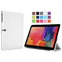 Moko Samsung Galaxy Tab PRO 10.1 Case - Ultra Slim Lightweight Smart-shell Stand Case for Galaxy TabPRO 10.1 SM-T520N Tablet, WHITE (With Auto Wake / Sleep, NOT Fit Tab 4 10.1 & Tab 10.1 & Tab2 10.1)