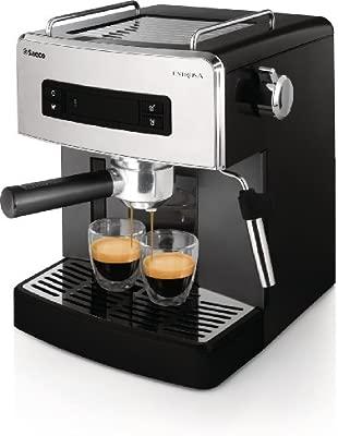 Saeco Estrosa HD8525/01 - Máquina de café espresso manual para café molido y monodosis ESE, color negro