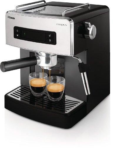 Saeco-Estrosa-HD852501-Mquina-de-caf-espresso-manual-para-caf-molido-y-monodosis-ESE-color-negro