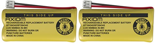 -  2-Pack Axiom Cordless Home Phone Battery for ATT BT184342 BT28433
