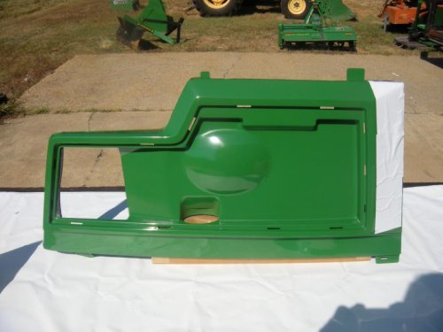John Deere Replacement Left Side Hood Panel AM128983 for models 415, 425, 445 and 455. by John Deere
