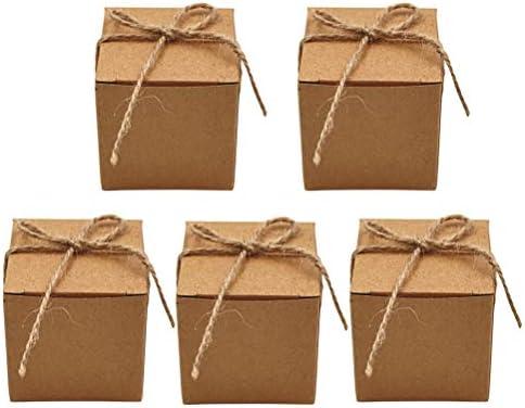 BESTonZON 50 Piezas de Cajas de Dulces Kraft con Guita Caja de ...