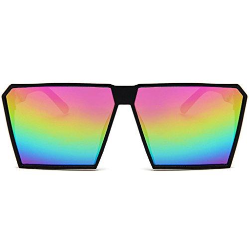 para colores de unisex con Y JAGENIE hombres lentes mujeres y tamaño Gn y montura de gran de cuadrada Gafas sol Otxw7q6
