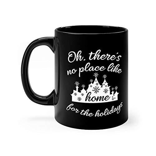Castle Home for the Holidays in white Mug Coffee Mug 11oz Gift Tea Cups 11oz Ceramic Funny Gift Mug -