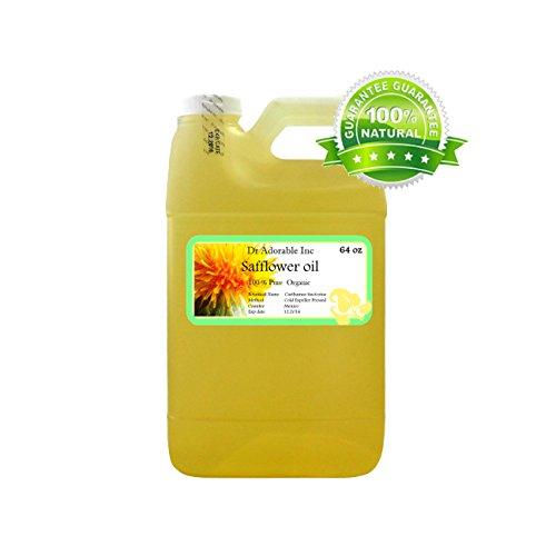 Safflower OIL High Oleic Organic 100% Pure 64 Oz / 2 Quarters