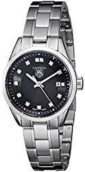 TAG Heuer Women's WV1410.BA0793 Carrera Diamond-Accented Stainless Steel Watch