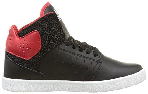 Supra Atom, Unisex-Erwachsene Hohe Sneakers Schwarz (Black/Red/White)