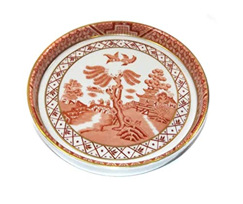 Vintage 1981 Royal Doulton Booths Real Old Willow Pink Porcelain Dish Trinket Tray