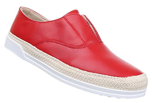 Damen Halbschuhe Lace up Schuhe sportliche Slipper Schwarz
