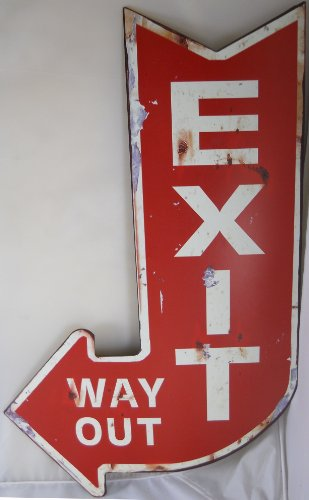Vintage Looking EXIT WAY Sign