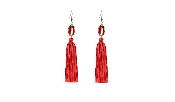 Swyss Long Fringe Drop Earrings Fashion Elegant Geometric Round Dangle Tassel Earrings Jewelry Gifts for Women Girls