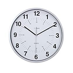 kieragrace Contemporary wall-clocks, Set of 6, Silver
