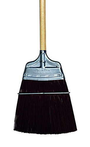Metal Shed Brown Trim - Milwaukee Dustless Brush, Upright broom, brown poly, wood handle