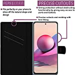 HUPSHY Faux Leather Flip Case Back Cover for Mi Redmi Note 10s Foldable Stand and Inside Card Pocket|Shockproof with 360…