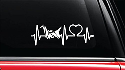 Japanese Origami Heartbeat Lifeline Vinyl Die-Cut Decal Sticker for Car, Truck, Notebook, Laptop, Computer or Window (8