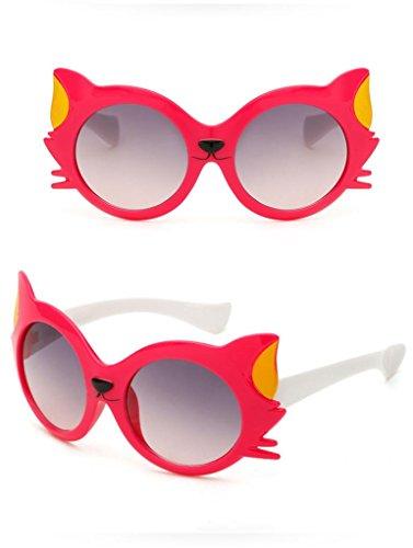 niño y y de de 6 diseño ❤️ protección confortables muy gato caliente rayos resistentes entre animados dibujos 2 Gafas años y UV400 de ideal Rosa Sol Unisex niña seguras para regalo gnTvI4qzT