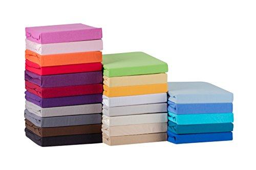 STARCK Soft Comfort Baumwolle Jersey-Stretch Spannbettlaken, Weiß 140x200cm bis 160x200cm