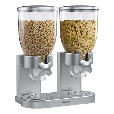 Zevro GAT202 Indispensable Dual-Canister Dry-Food Dispenser, Silver by (Zevro Dual Dry Food Dispenser)