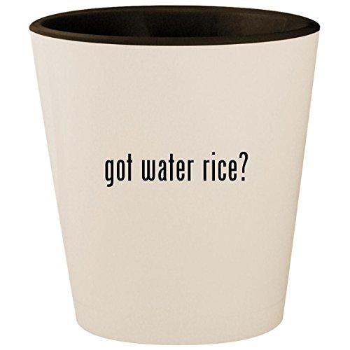 got water rice? - White Outer & Black Inner Ceramic 1.5oz Shot Glass