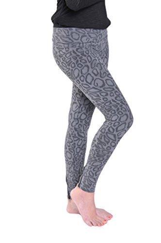 Hard Tail back zip roll down leggings (black/grey print) ...