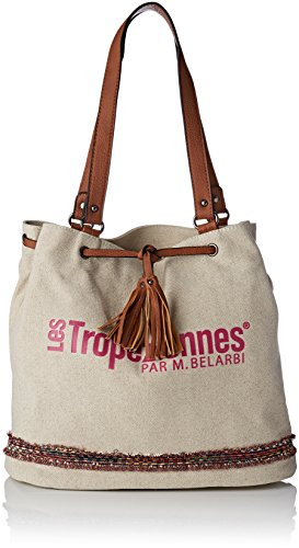 Les Tropéziennes Des02-tz-pink - Bolso de tela de Lona para mujer Rosa Rose (Pink)