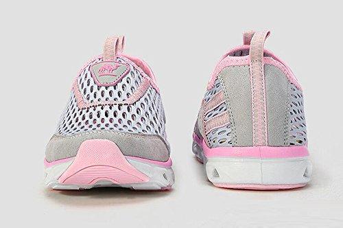 Kameel Womens Lichtgewicht Ademende Sneldrogend Water Schoenen, Lopen, Beachoutdoor, Oefening, Atletische Sneakers Grijs