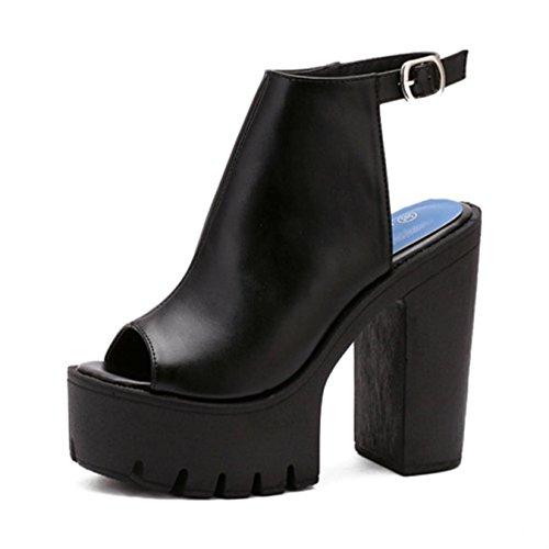 New Black High Heel Slingback - Gdgydh Hot Sale European Women Summer Shoes Slingbacks High Heels Sandals Platform Causel Shoes for Party 2017 New Size 35-40