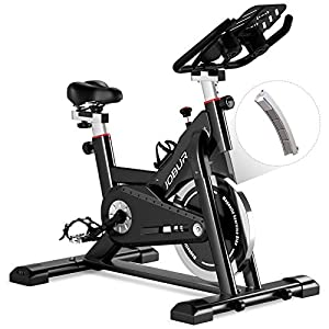 Well-Being-Matters 411SkYXTe6L._SS300_ JOBUR Magnetic Exercise Bikes with Ipad Mount, Spin Bike with Comfortable Seat Cushion, Quiet Magnetic Resistance…