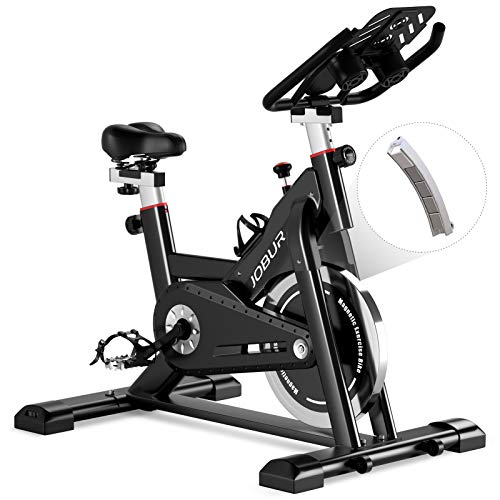 Jobur Belt Drive Cycle Bike with Magnetic Resistance Exercise Bikes-Quiet Indoor Cycling Bike Stationary with Tablet…