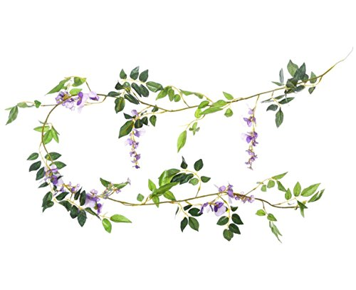 Miracliy-Artificial-Flowers-Vine-2-Pcs-66ft-Fake-Silk-Wisteria-Ivy-Vine-Rattan-Hanging-Garland-for-Home-Party-Wedding-Decor-Purple