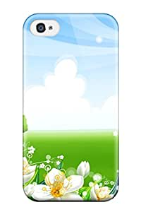 ZippyDoritEduard Premium Protective Hard Case For Iphone 4/4s- Nice Design - Green Vally Vector 3d