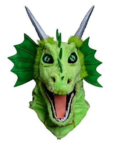 Forum Novelties Unisex-Adult's Moving Jaw Mask-Green Dragon, Multi, Standard -