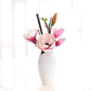 Artificial Flower Wood-Anemones Pink Real Touch Home decorations for Bridal Wedding Bouquet Birthday Flowers Bunch Hotel Party Garden Floral Decor -Dreamingces 75