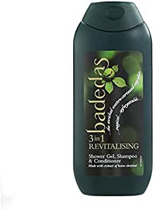 Badedas 3-in 1 Revitalising Shower Gel, Shampoo and Conditioner, 200 ml, Pack of 6