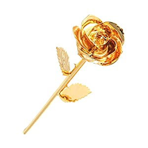 Sexyrobot Real Rose 24K Gold Dipped Preserved Flower With Nice Gift Box for Valentine's Day, Mother's Day, Christmas Wedding Birthday Anniversary Shower 74