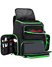 Trunab Travel Carrying Backpack Compatible with Xbox Series X, Storage Case Bag with Inner Divider for Xbox Game Console